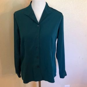 Notations Teal Button Down